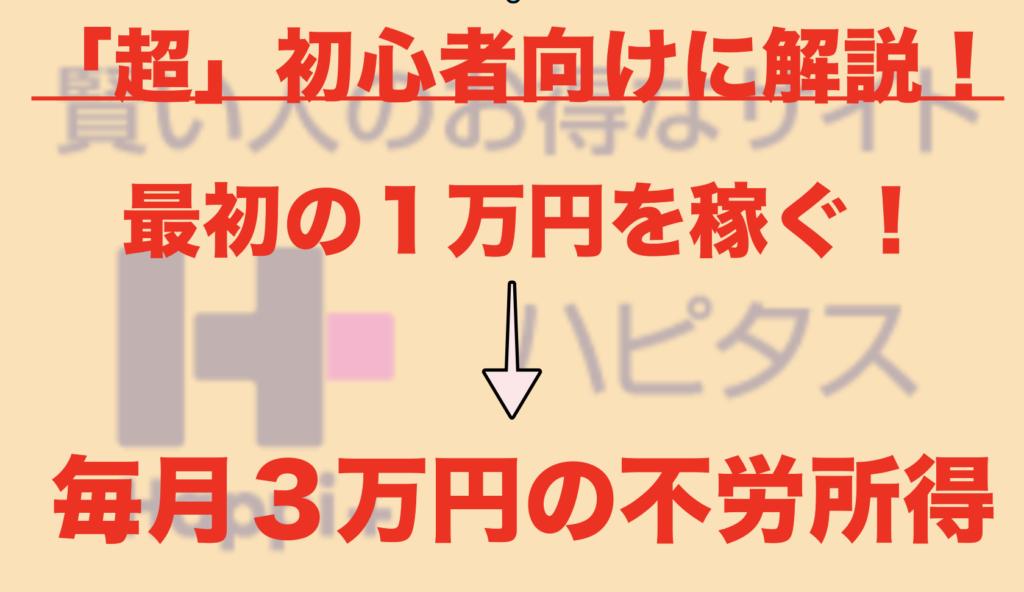 【ネット超初心者向け】ハピタスで1万円分のポイント(お金)を稼ぐ方法